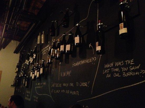 GoodWolfe Kitchen+Bar : Wall-sized wine list!