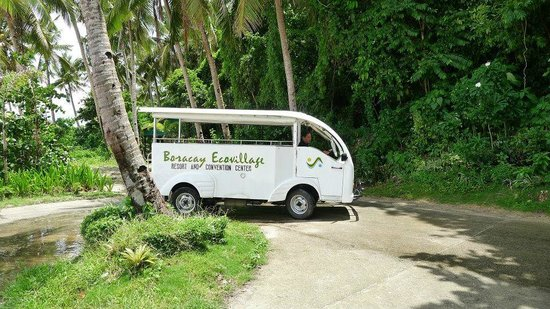 Boracay Ecovillage Resort and Convention Center: ride to Puka beach from hotel