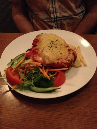 The Clubhouse Bar & Bistro: chicken parmy