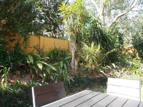 Byron Links Apartments : Garden courtyard