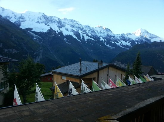 Hotel Jungfrau: Morning view from my hotel room