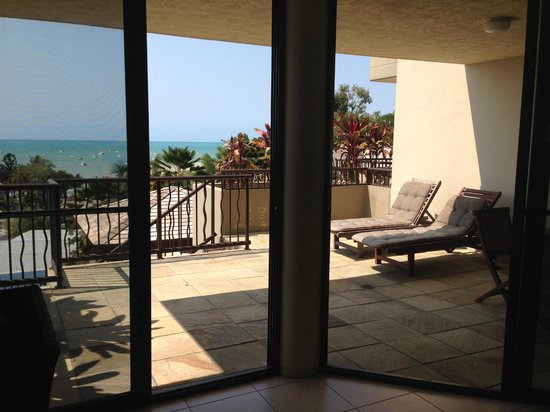 at Water's Edge Resort: Balcony & view on Level 1