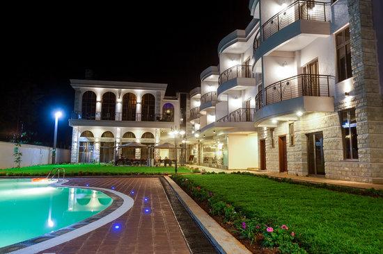Alba Hotel Meru: Hotel Backyard
