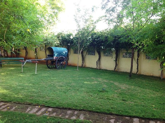 Visalam: Bullock cart in lawn