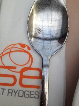 Rydges Rotorua : The spoon at the breakfast buffet area