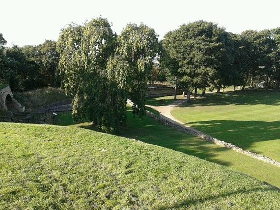 Pontefract Castle: View from the Bailey