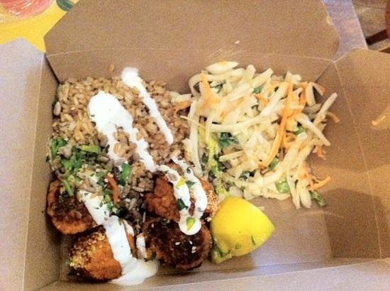 Leon - Bankside : Falafal with brown rice