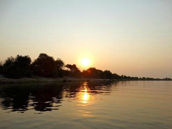 Ichingo Chobe River Lodge - Zambezi Queen Collection : coucher du soleil