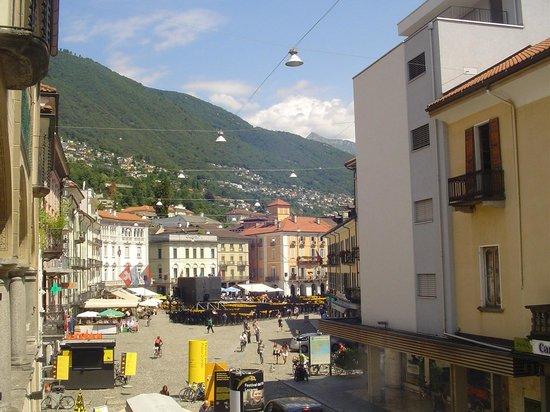 Hotel Dell'Angelo : Piazza Grande a Locarno
