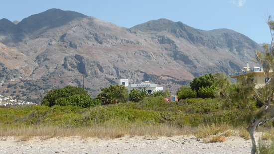 Flisvos Taverna: The apartments seen from the beach