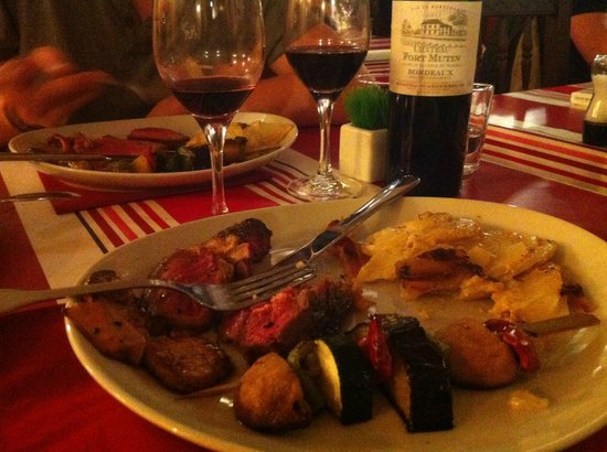 Côte de boeuf rossigni à l'Etable de BIarritz