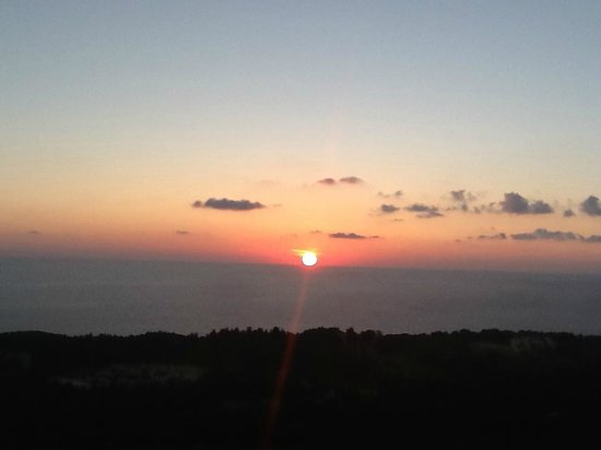 Ranzo Ionio: Sunset from our terrace