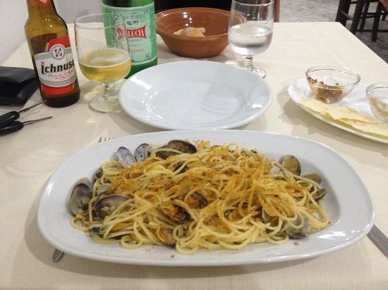 Ristorante i Giganti: Spaghetti con arselle e bottarga