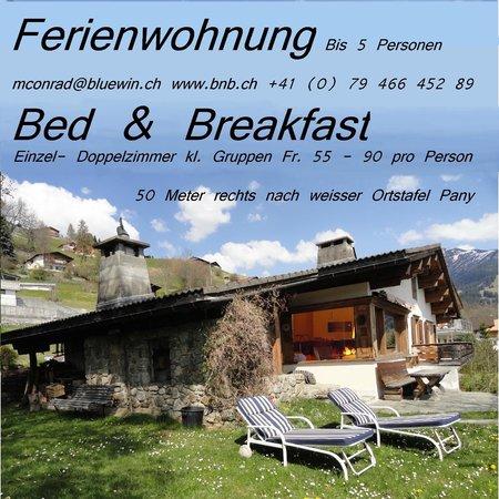 Bed and Breakfast Conrad, Pany: Garten