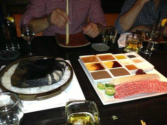 Sushisamba : Kobe beef & hot rock