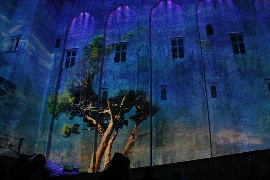 La Violette : Les luminessance de Palais des papes