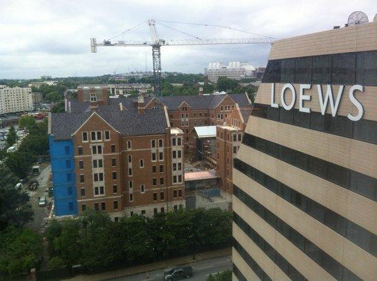 Loews Vanderbilt Hotel: View from room, looking toward Vandy