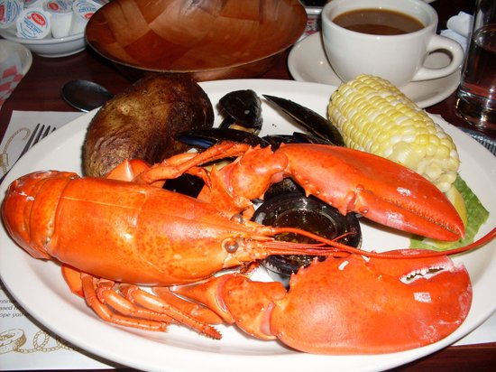 Lobster Boat : Our delicious lobster dinner