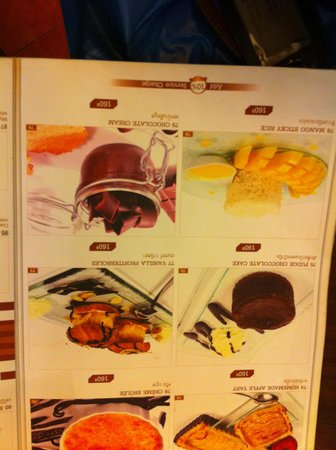 Cafe 101 Bar & Restaurant: Menu Desserts