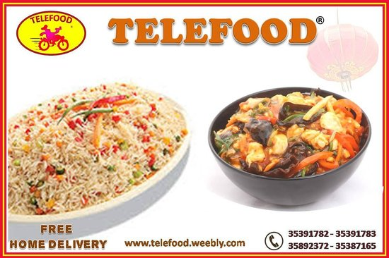 Telefood restaurant and free home delivery