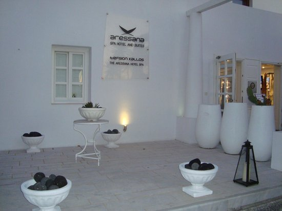 Aressana Spa Hotel and Suites: decent entrance