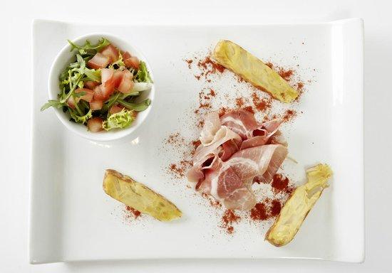 La Terrasse Thalassoleil : tortilla et son jambon cru
