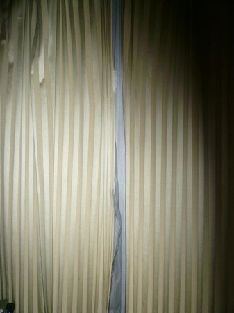 Bothland Hotel Shanghai: Room curtains which were broken and dirty.