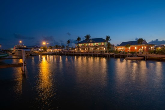 George Town Yacht Club: View at night from the Barcadere Marina