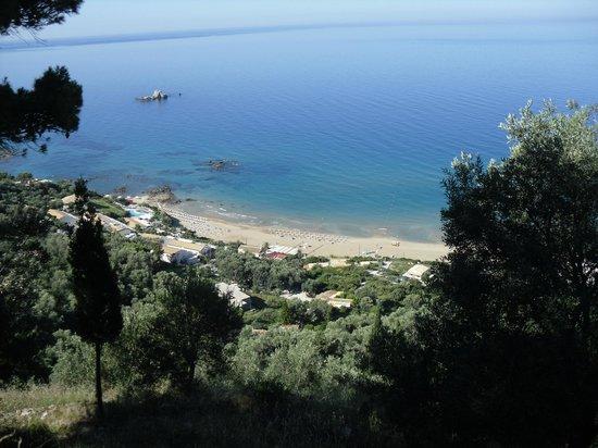 Mayor Pelekas Monastery: I went for a walk its a steep hill upto pelekas village
