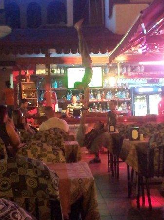 September Restaurant & Bar: the acrobats