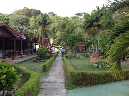 Berjaya Praslin Resort - Seychelles : jardin du Berjaya Praslin