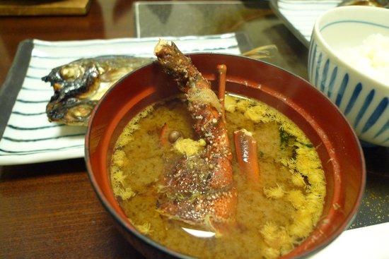 Suzuya Kaiyutei : 朝食に出たイセエビの味噌汁