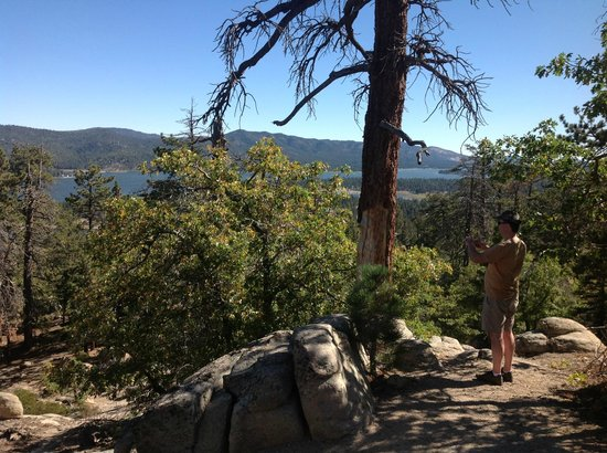 View from the top, overlooking Big Bear Lake
