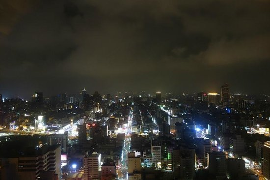 Grand Hi-Lai Hotel Kaohsiung: View of the city skyline from the hotel room at night