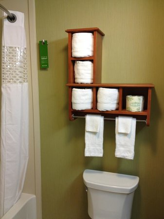 Hampton Inn & Suites Astoria : bathroom