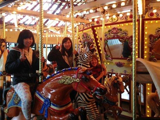 Salem's Riverfront Carousel: A fun stop for Foreign Exchange students!