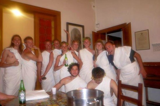 A Venice Fish: Venice Fish Dining Room Toga Party