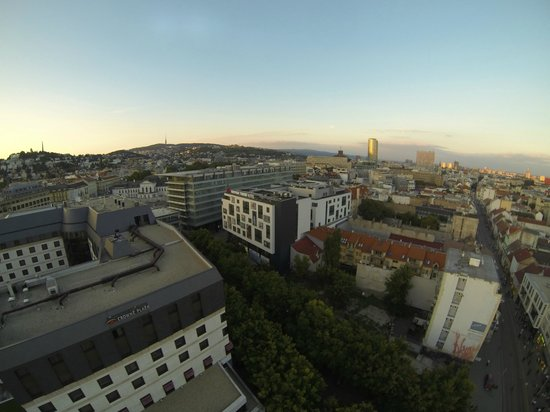 Austria Trend Hotel Bratislava: View from the old town (taken from the air with my drone)