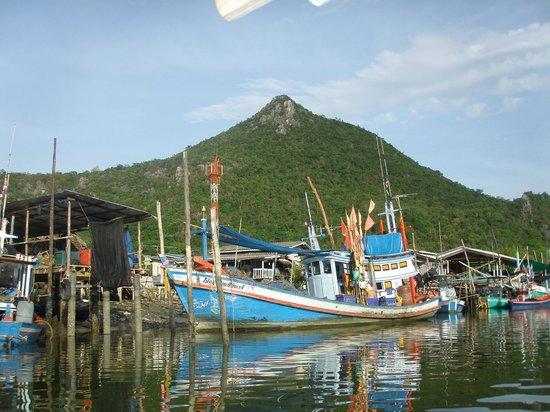 Kui Buri, Thailand: one of the many local fishing boats
