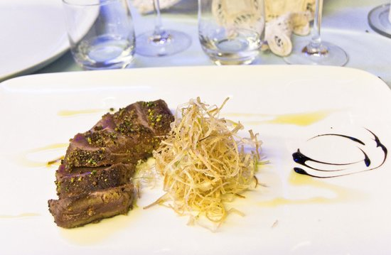 Ristorante La Caletta : anatra in crosta di pistacchi