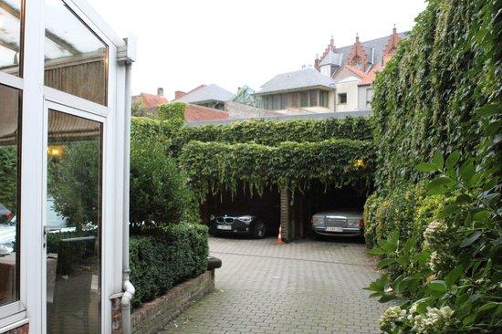 """Hotel Het Gheestelic Hof : The Castillion """"parent"""" hotel across the street"""