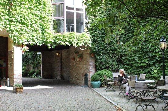 """Hotel Het Gheestelic Hof: The Castillion """"parent"""" hotel across the street"""