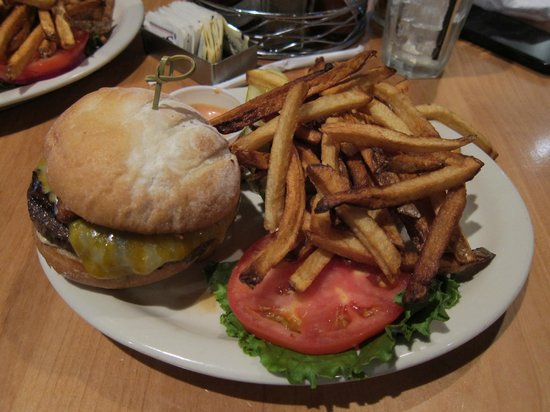 MacPhail's Burgers: Delicious hamburger and french fries.