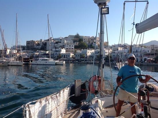 Náxos, Griekenland: Ο φοβερός καπετάνιος μας