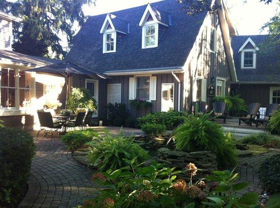 Historic Davy House B&B Inn: Backyard oasis