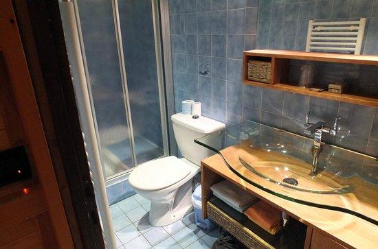 Hotel les Ancolies: la salle de bains