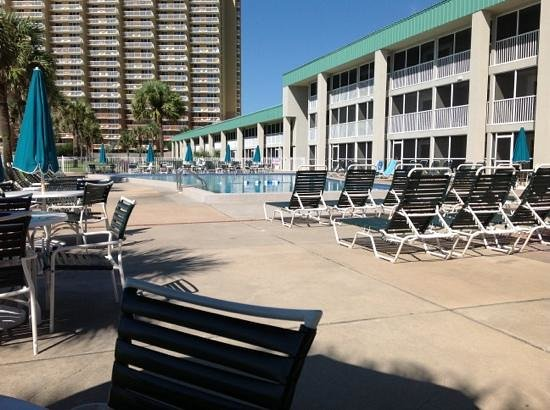 Destin Holiday Beach Resort 2: deck and pool area by phase 1