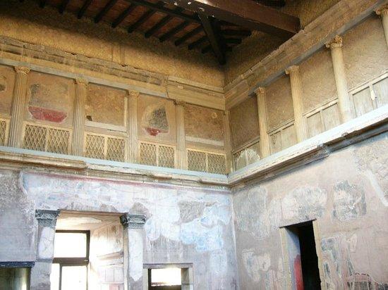 Ruins of Herculaneum: Innenhof eines zweigeschossigen Hauses