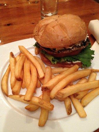 Bridgewater Bistro: portobello burger and fries