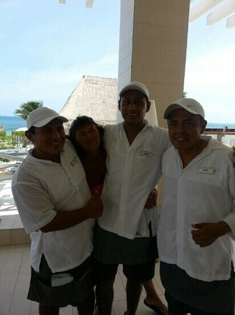 Beloved Playa Mujeres: these guys work so hard and allways with a big smile on there faces missing u all